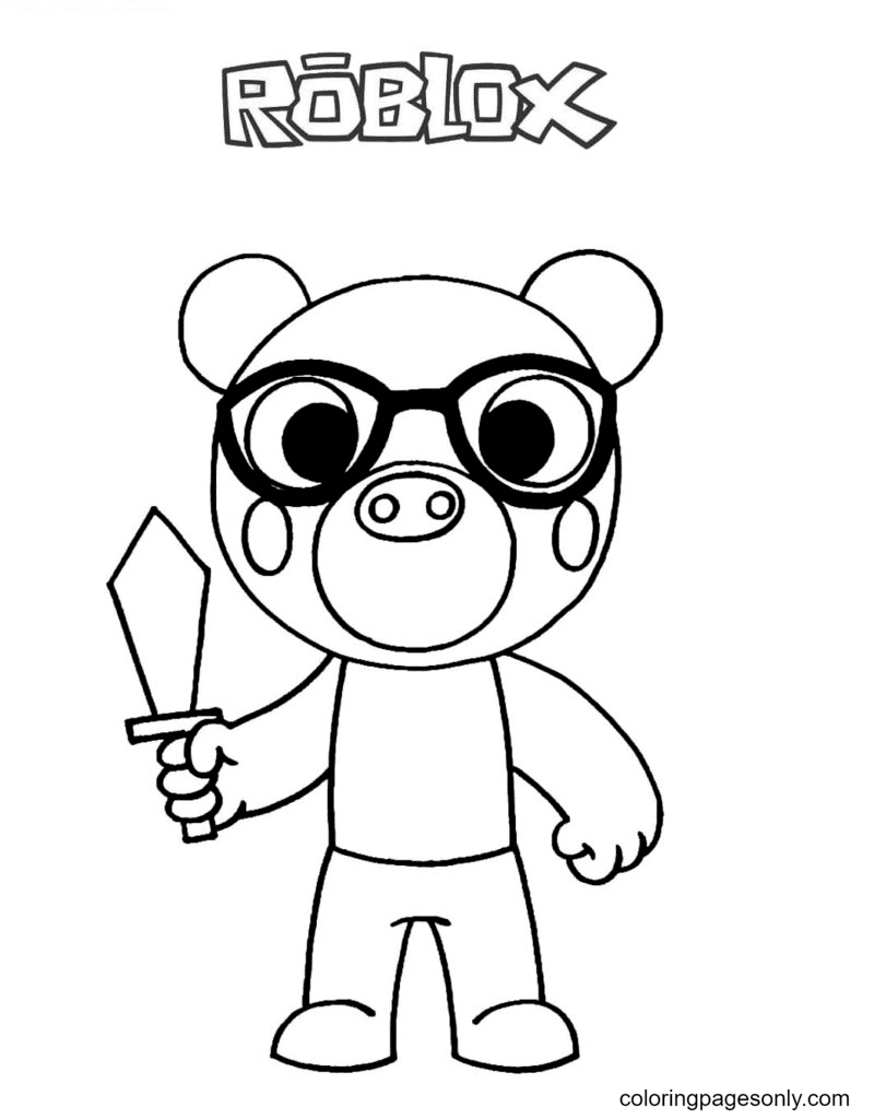 Piggy Pony Coloring Page