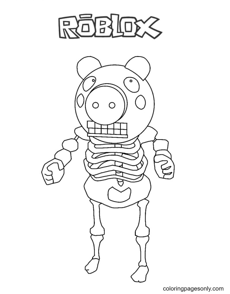 Piggy Skelly Coloring Page