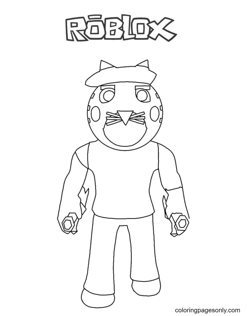 Piggy Tigry Uniforn Coloring Page