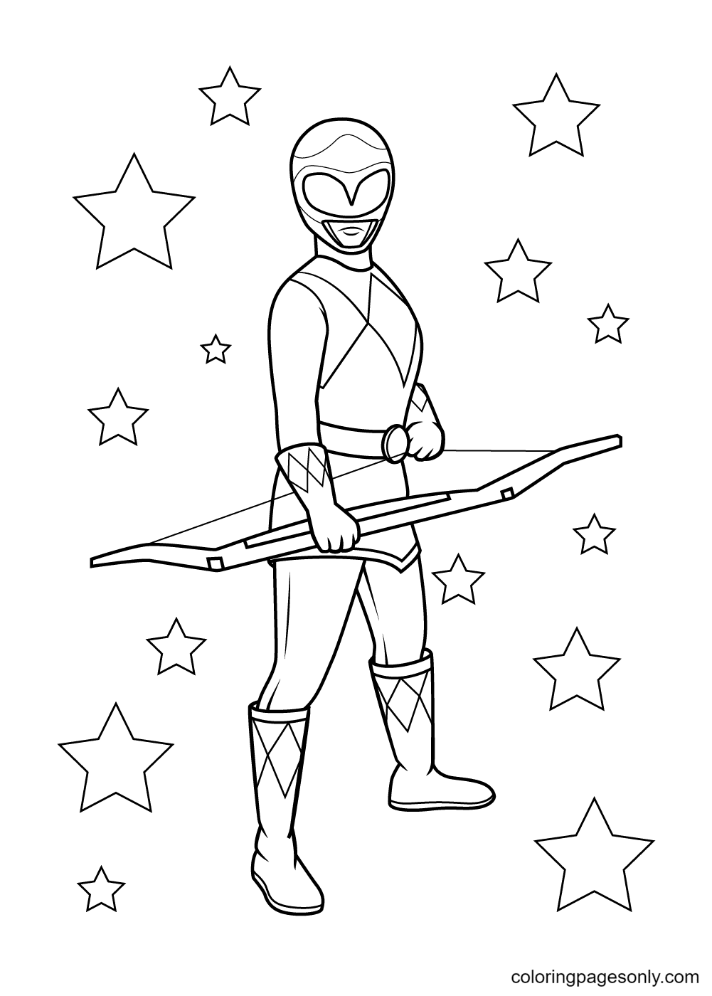 Pink Ranger Coloring Page
