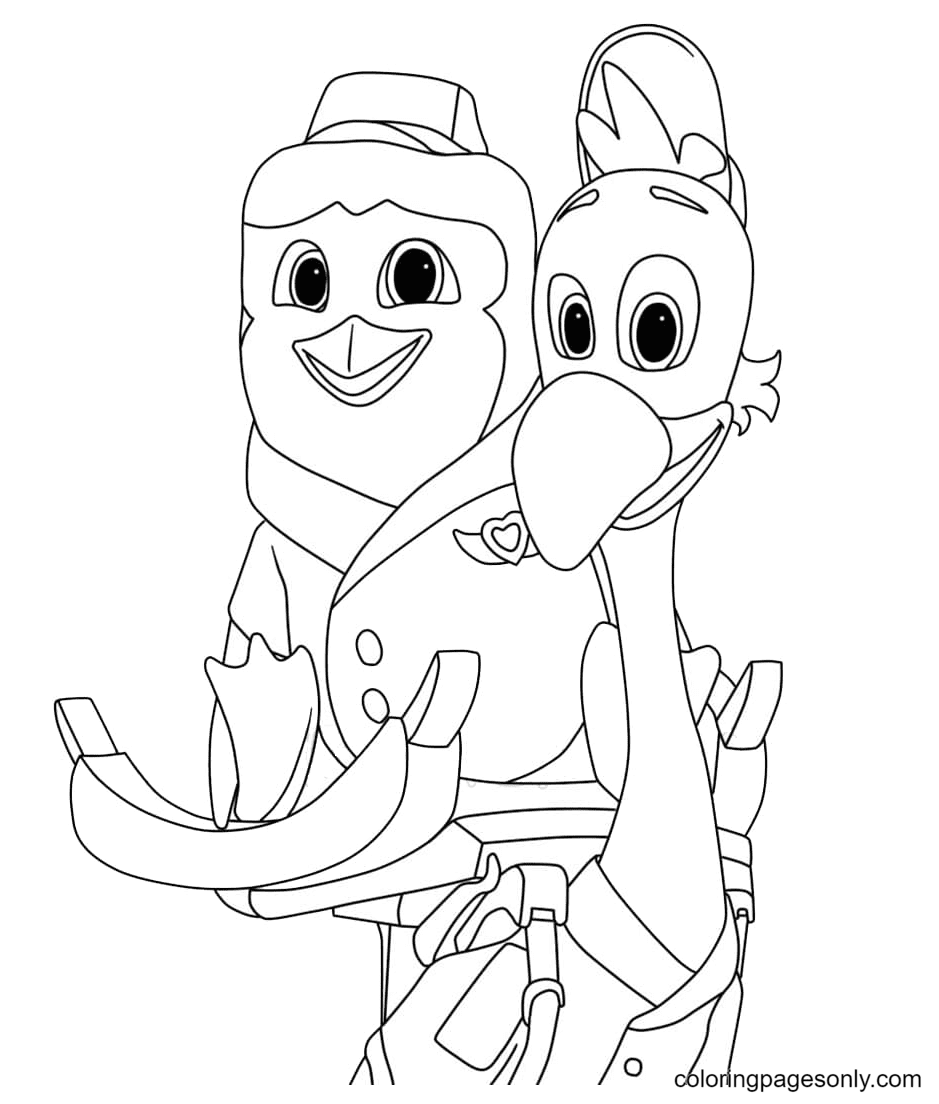 Pip and Freddy Coloring Page