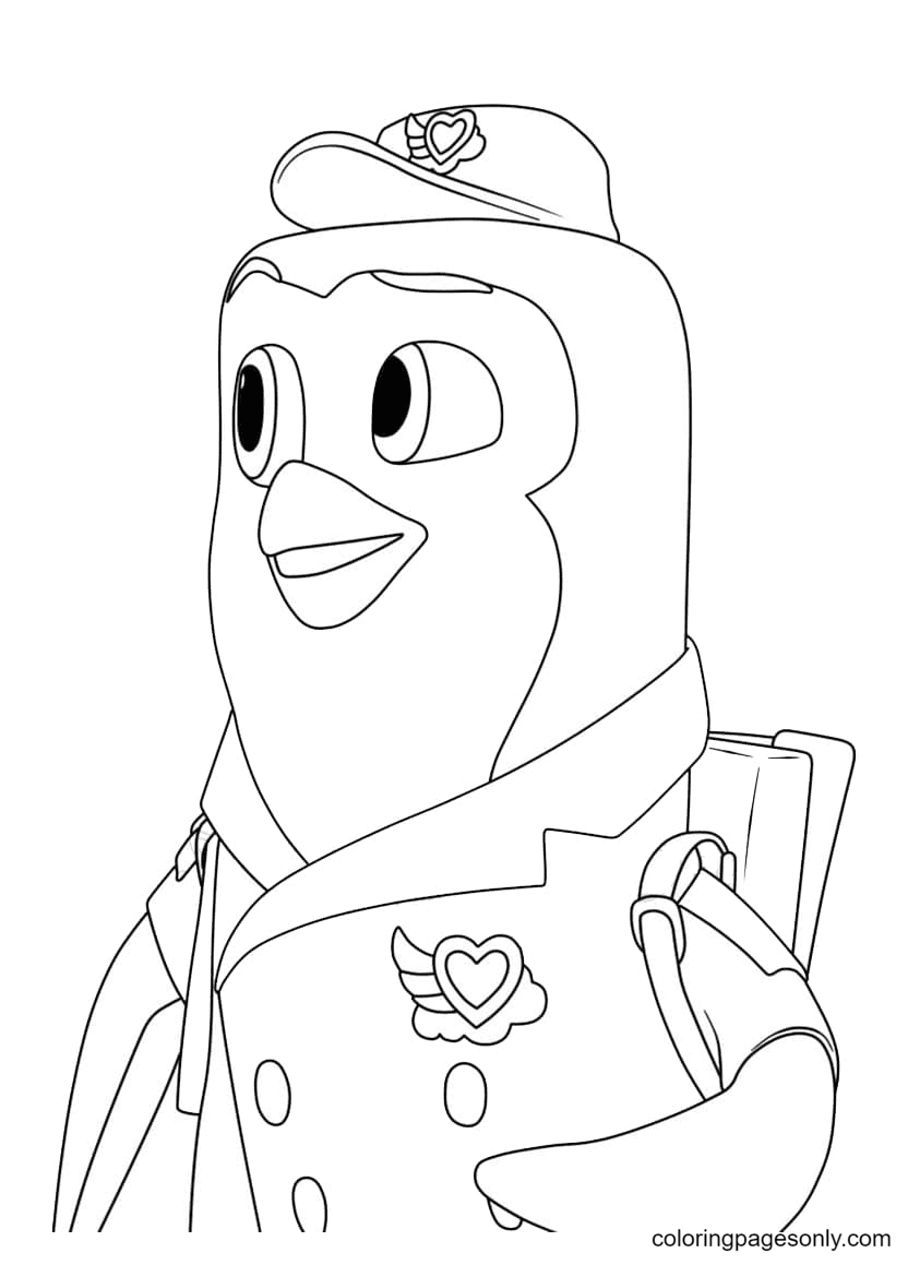 Pip the Penguin Coloring Page