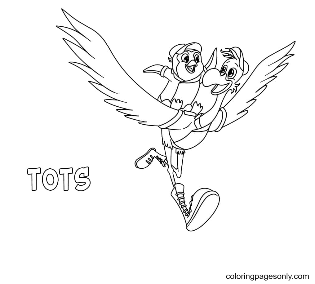Pip with Freddy Coloring Page