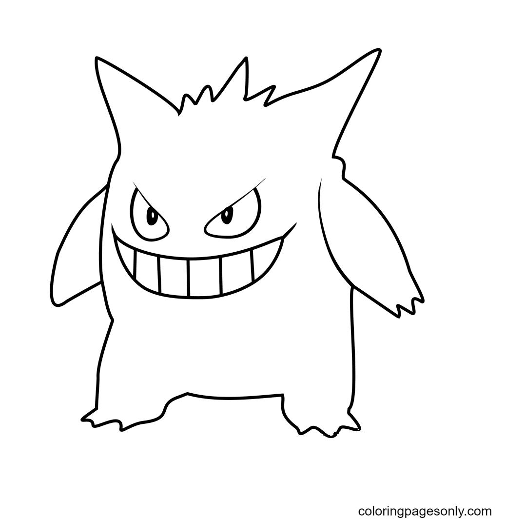Pokemon Gengar Coloring Page