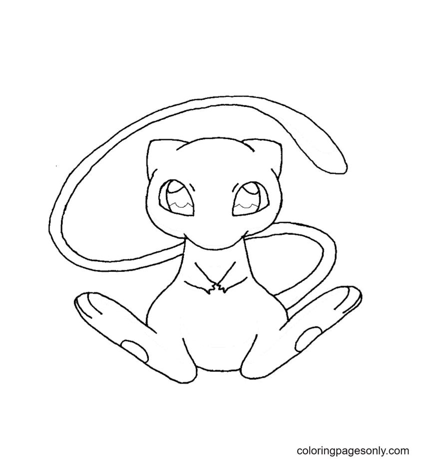 Pokemon Mew Free Coloring Page