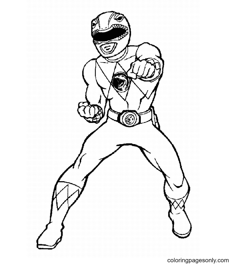 Power Ranger Red Coloring Page