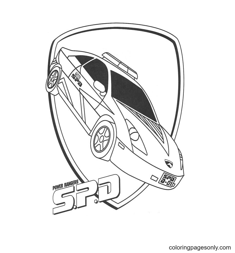 Power Ranger Spd Coloring Page