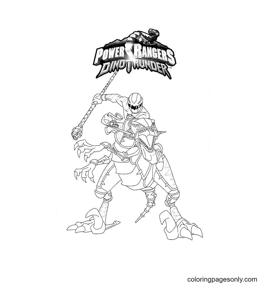 Power Rangers Dino Thunder Coloring Page