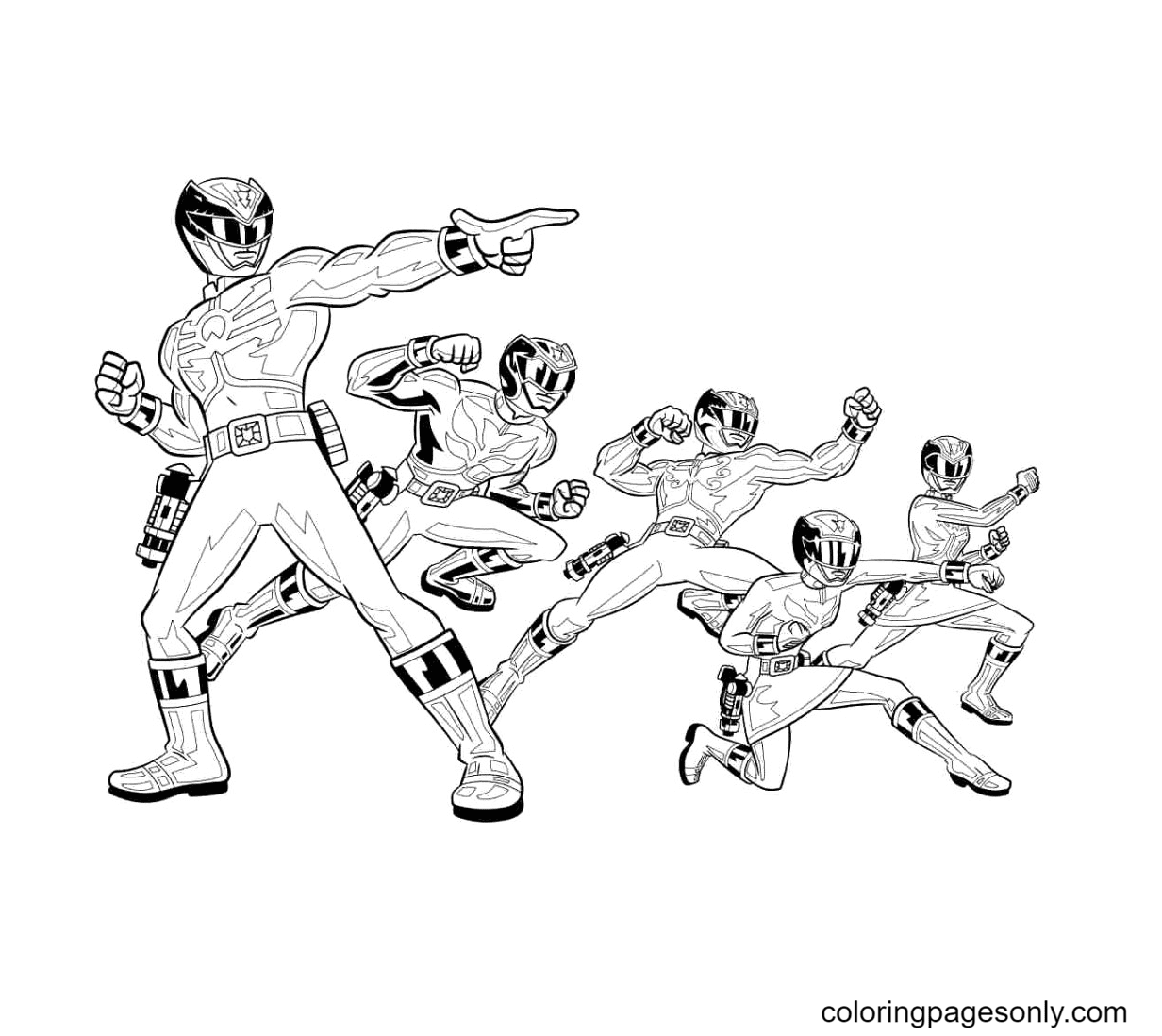 Power Rangers Printable Coloring Page