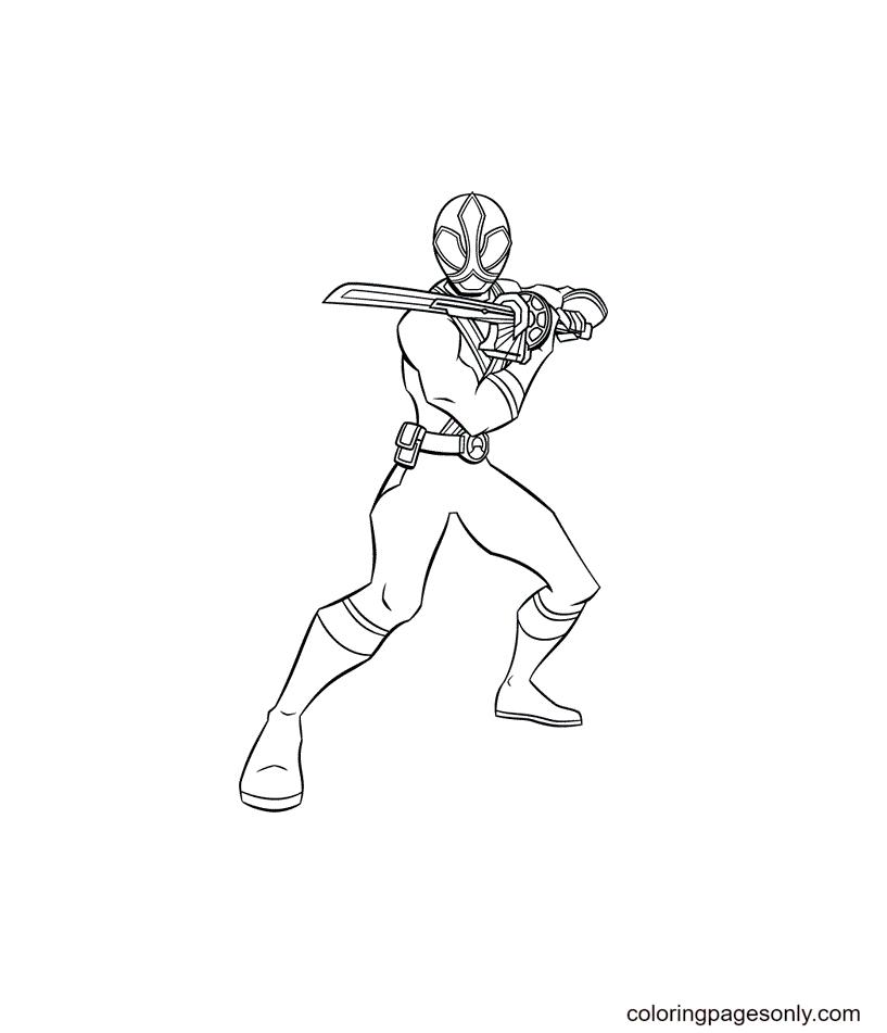 Power Rangers Samurai Coloring Page