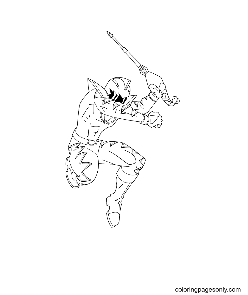 Power Rangers Wild Force Coloring Page