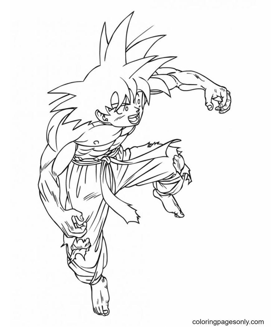 Power of Goku Coloring Page
