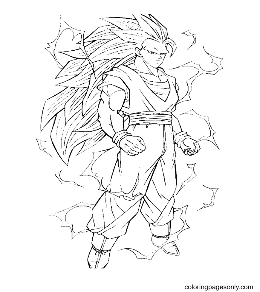 Power of Son Goku Coloring Page