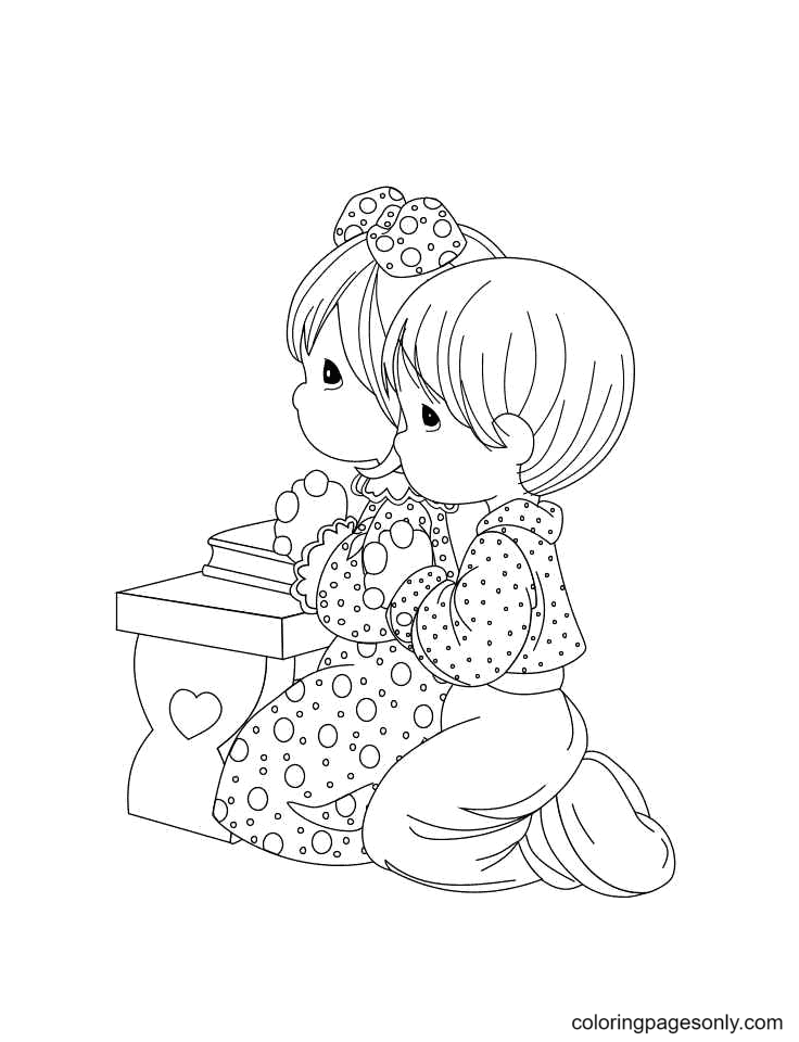 Precious Moments Religious Coloring Page