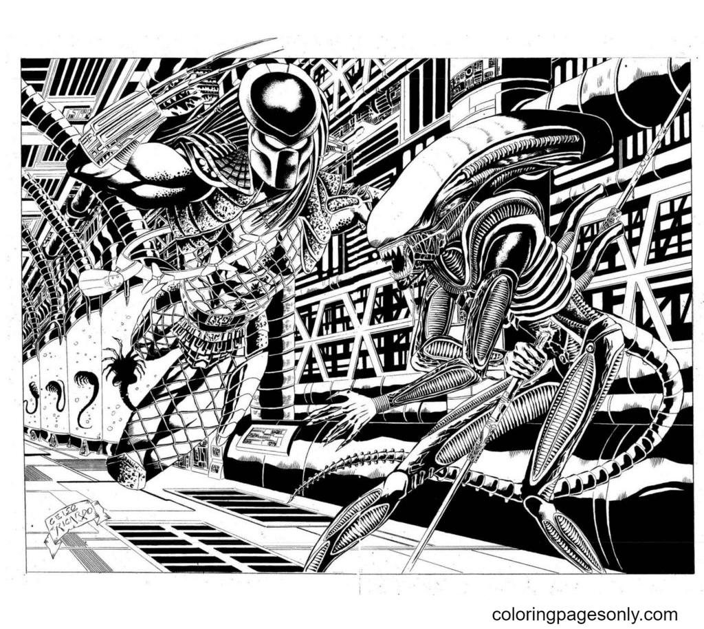 Predator, Alien Coloring Page