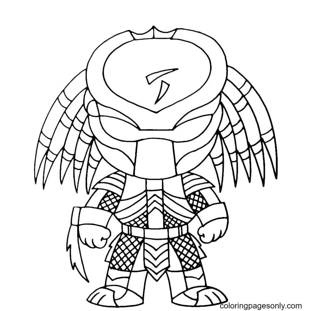 Predator Chibi Coloring Page