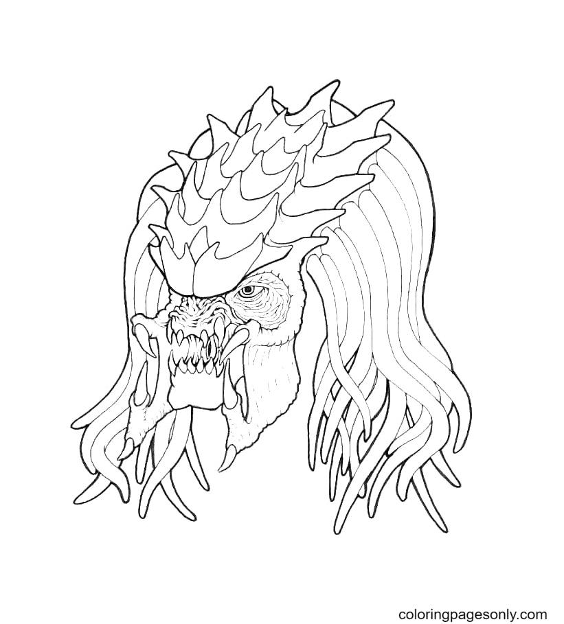 Predator Dragon Mask Coloring Page