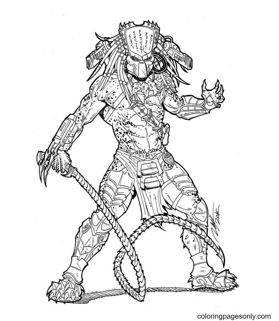 Predator Mega Free Printable Coloring Page