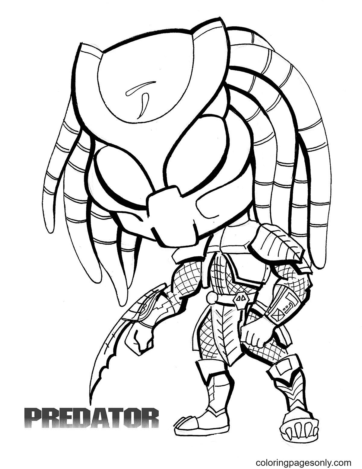 Predator Poster Coloring Page
