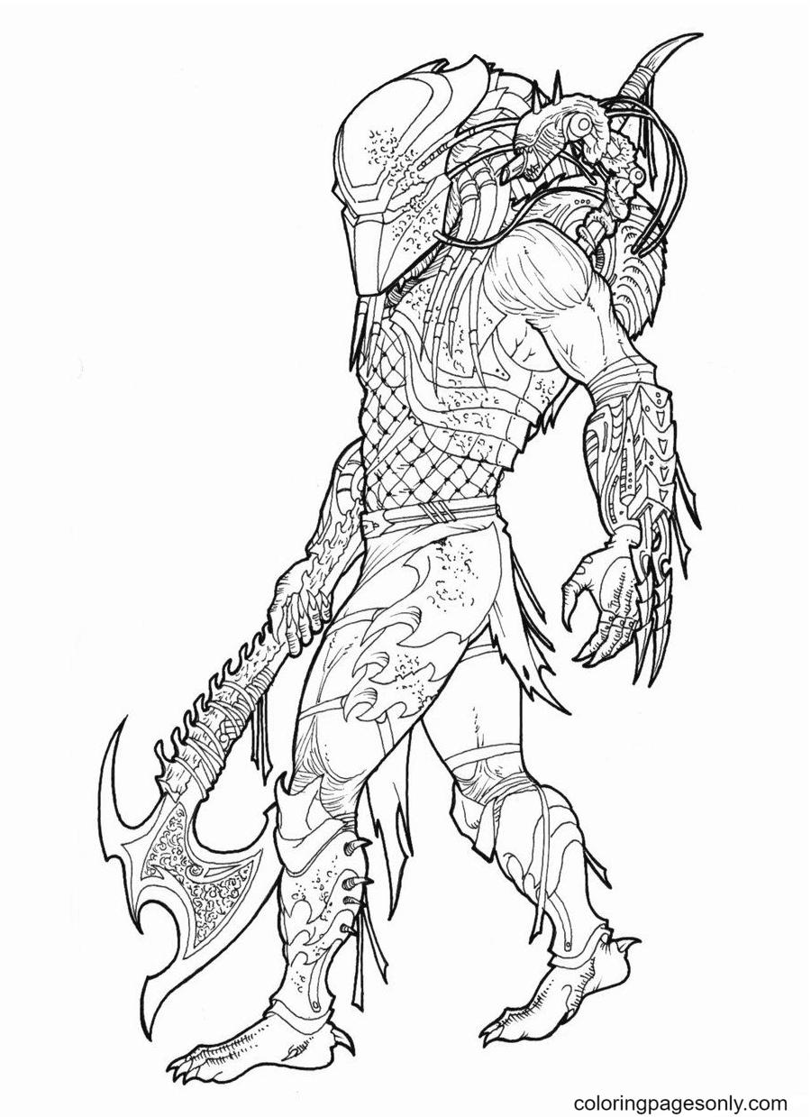 Predator Printable Coloring Page