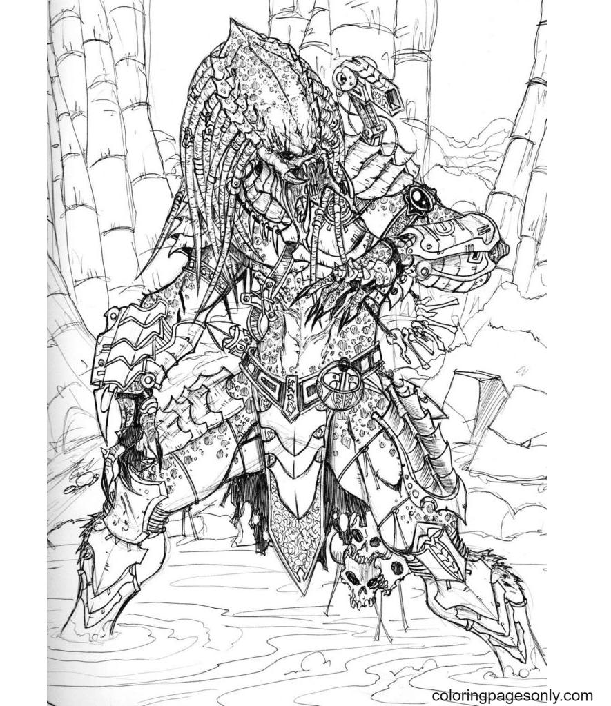 Predator and Prey Coloring Page