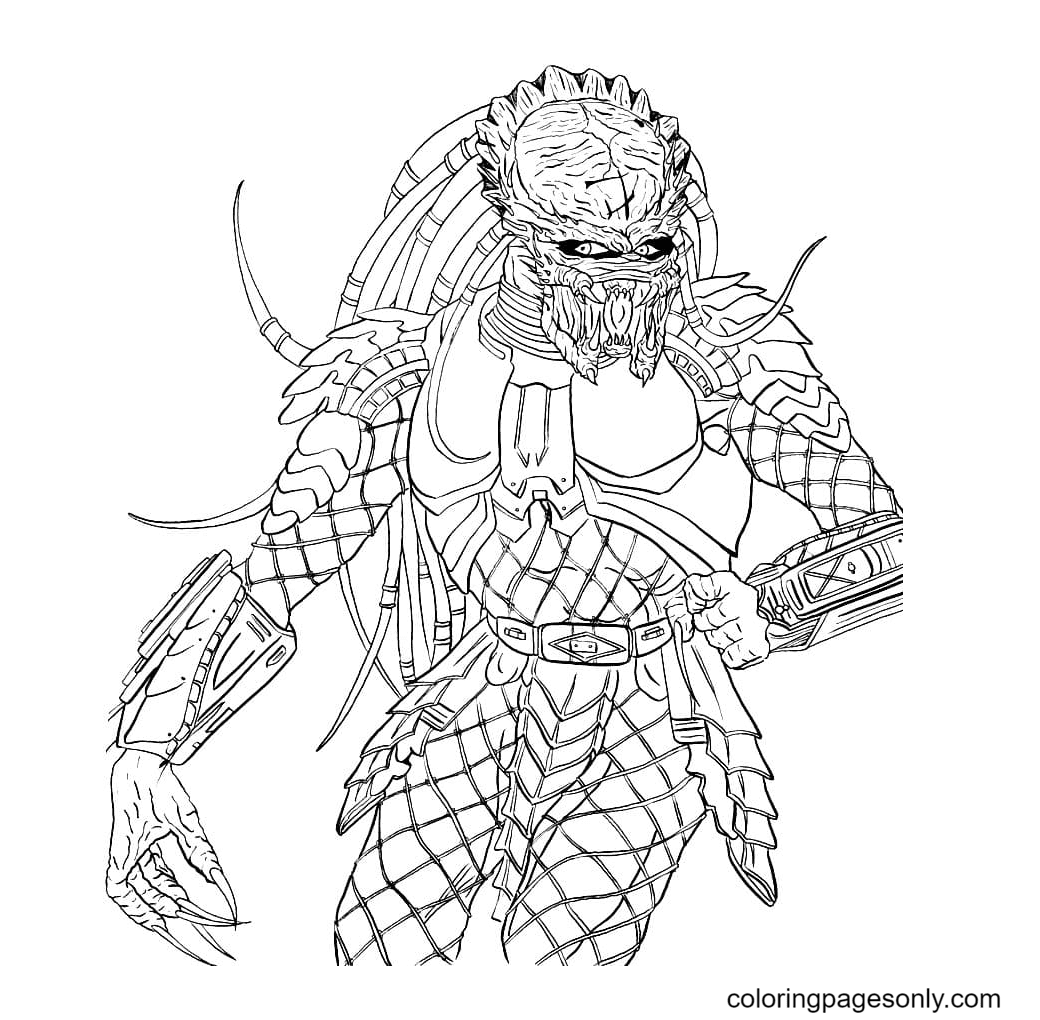 Predators with sharp claws Coloring Page