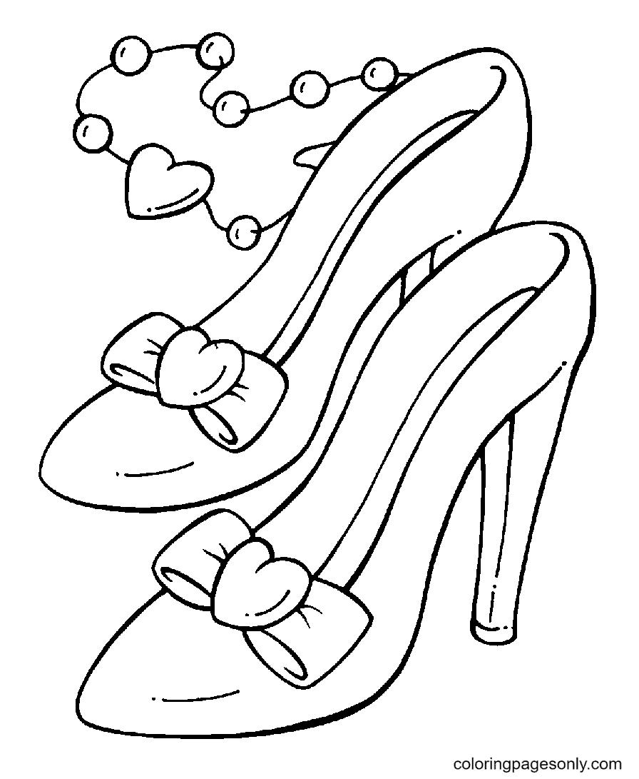 Princess Shoes Coloring Page