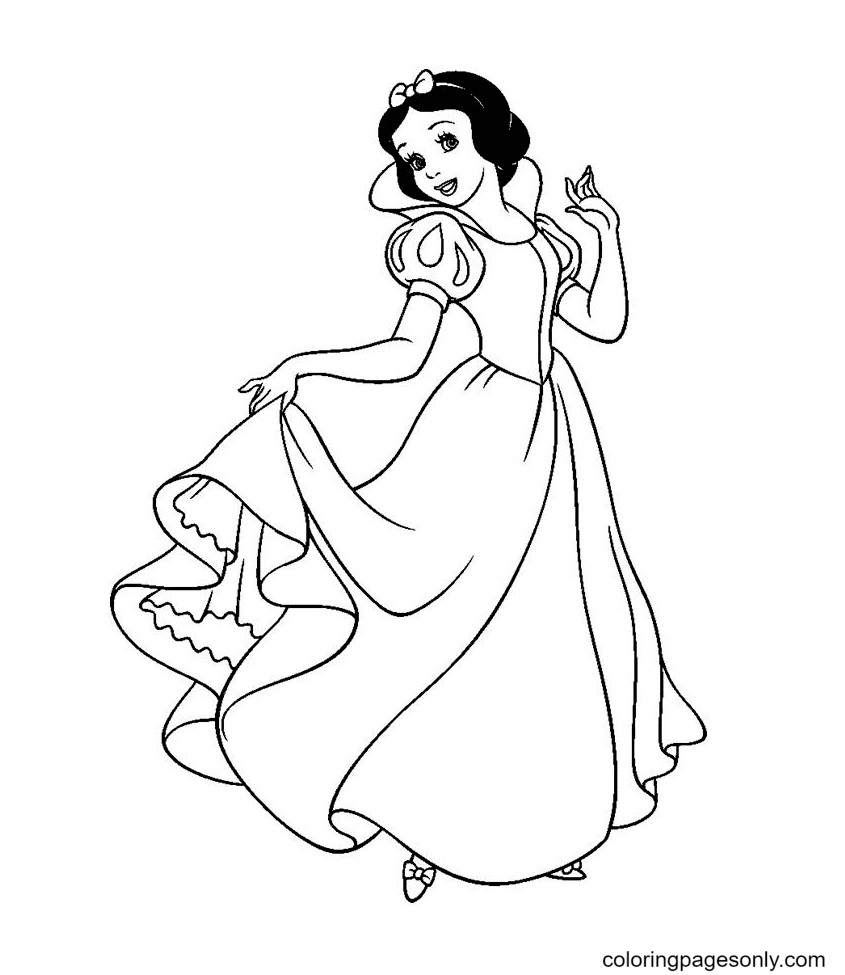 Princess Snow White Images Coloring Page