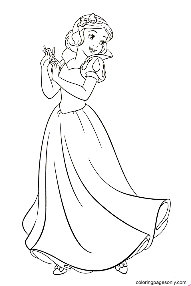 Princess Snow White Sweet Coloring Page