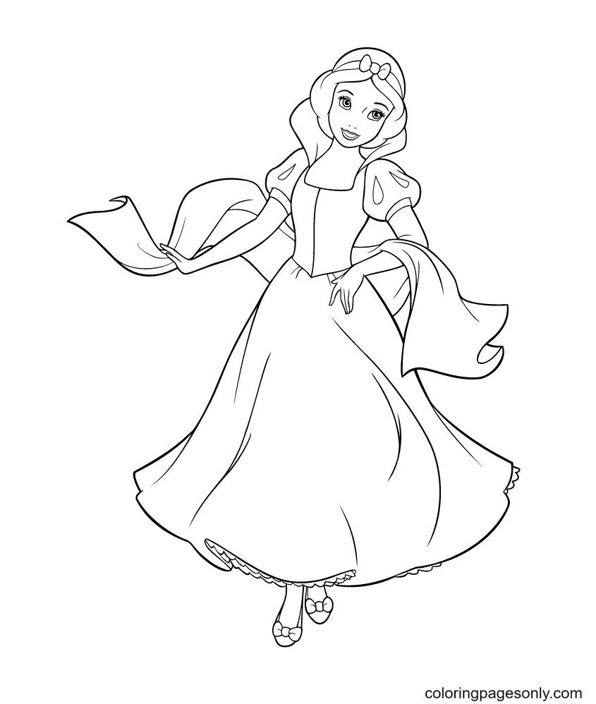 Princess Snow White Coloring Page