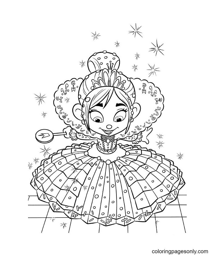 Princess Vanellope Von Schweetz Coloring Page