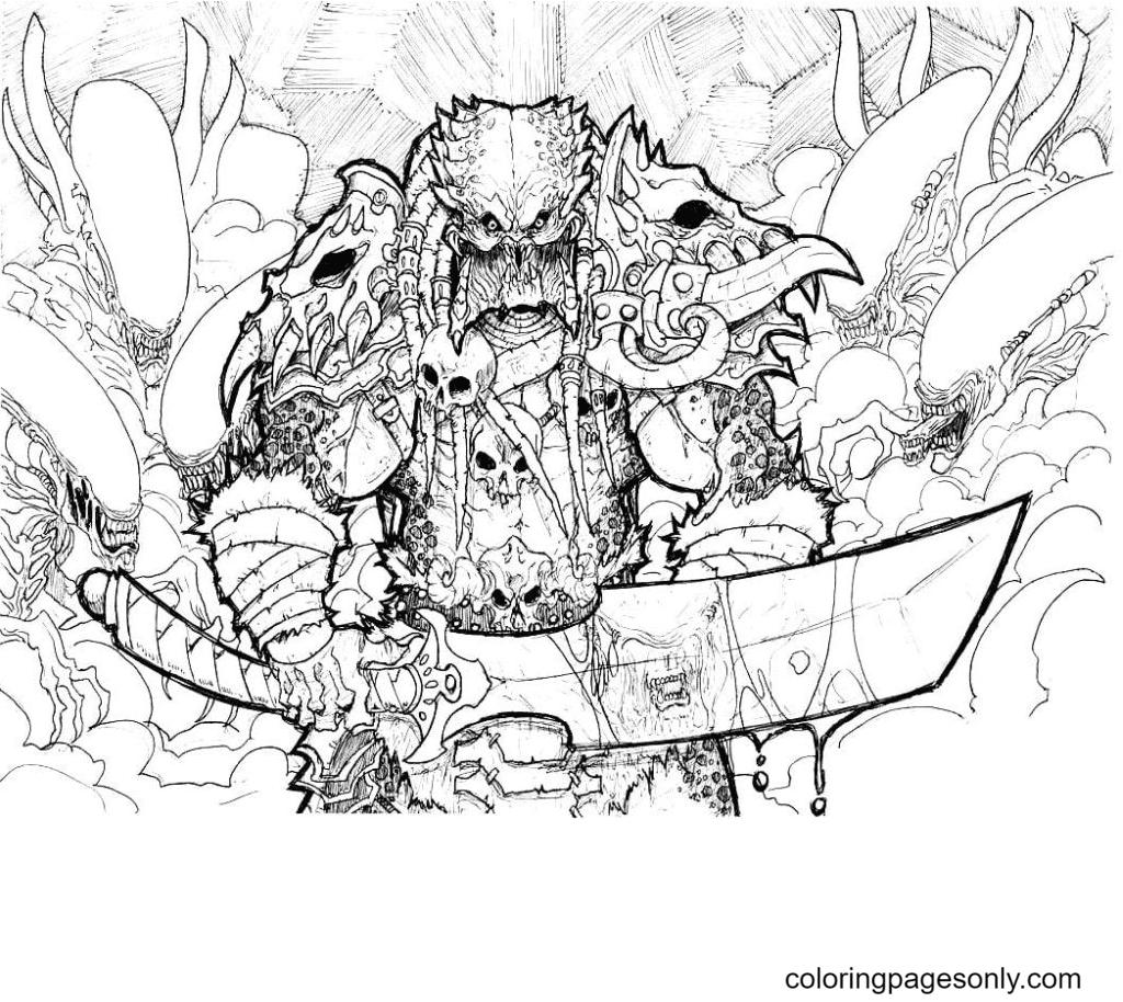 Printable Mega Predator Free Coloring Page