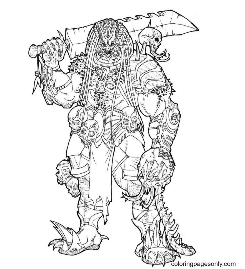 Printable Mega Predator Coloring Page