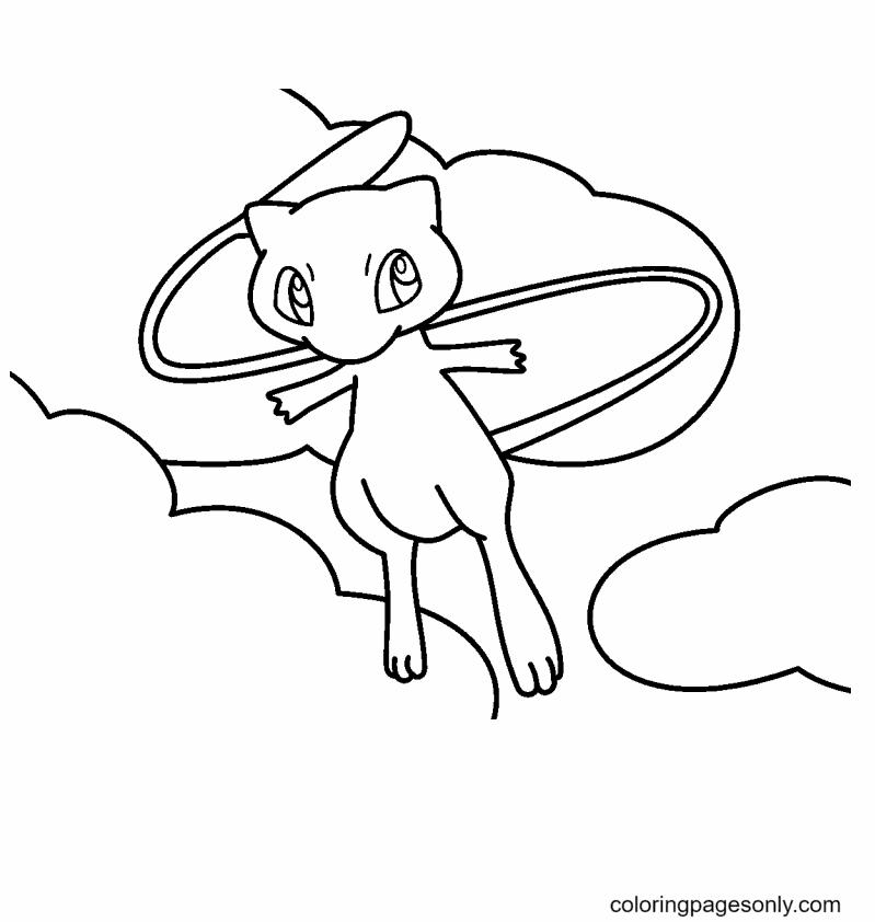 Printable Mew Pokemon Coloring Page