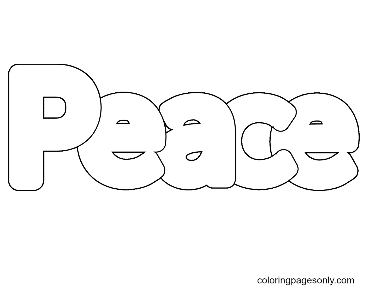 Printable Peace Coloring Page