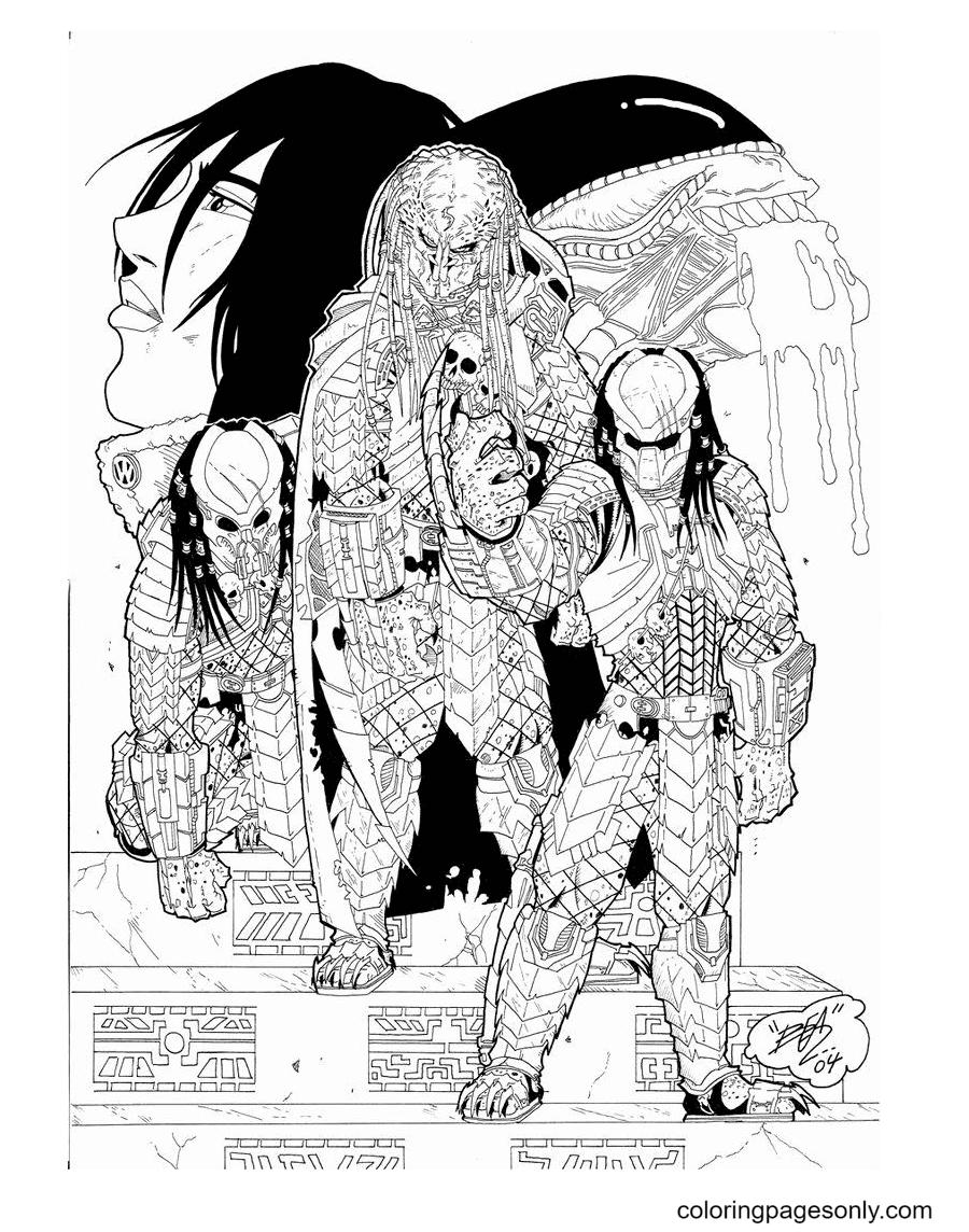 Printable Predator Coloring Page
