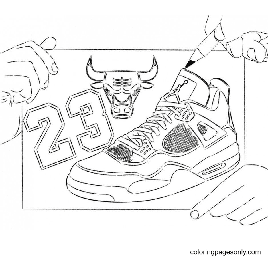 Printable Shoes Coloring Page