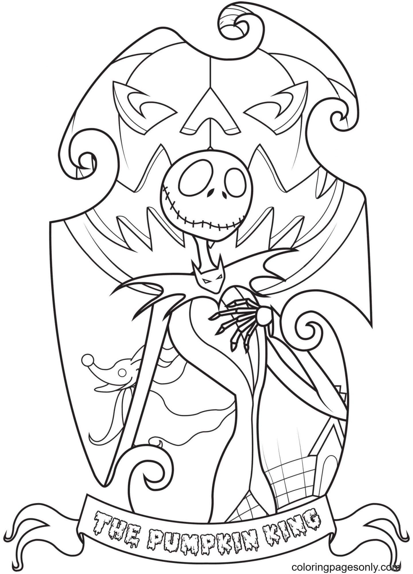 Pumpkin King Coloring Page