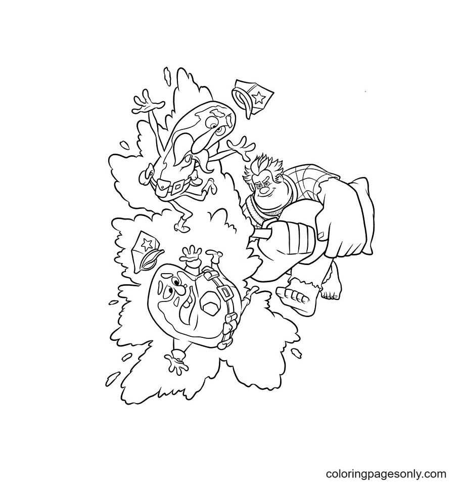 Ralph And Wynnche, Duncan Coloring Page