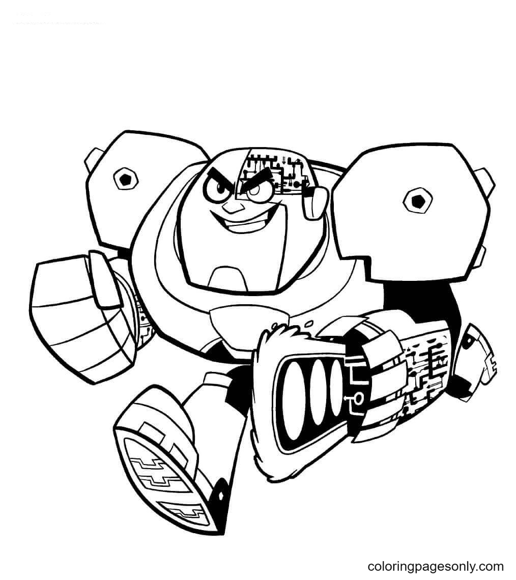 Rampage Cyborg Coloring Page