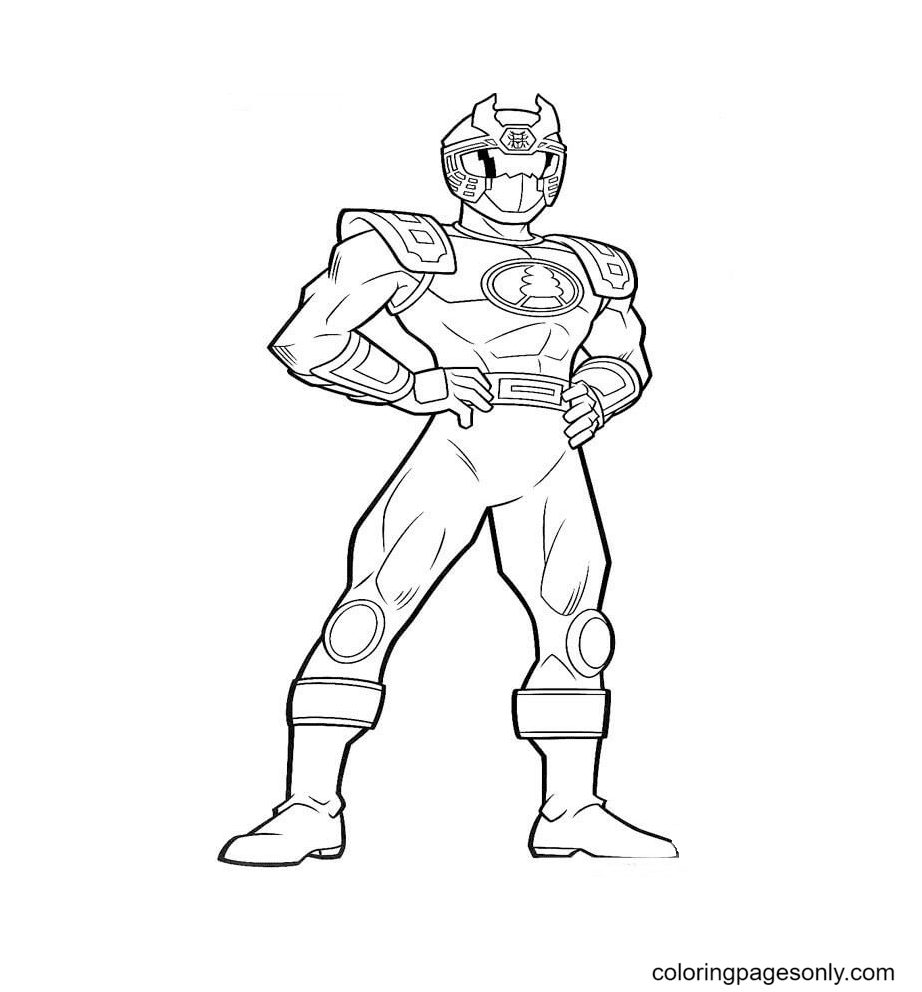 Ranger Blue Coloring Page