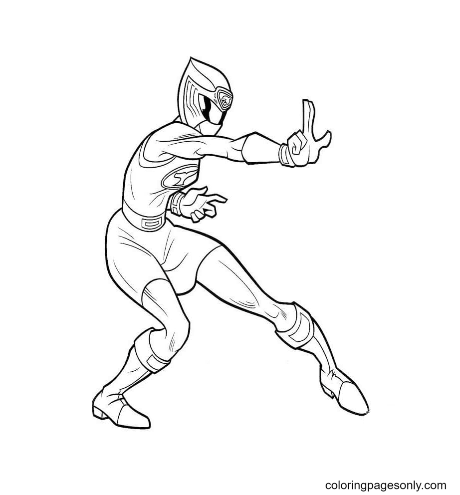 Ranger Pink Coloring Page