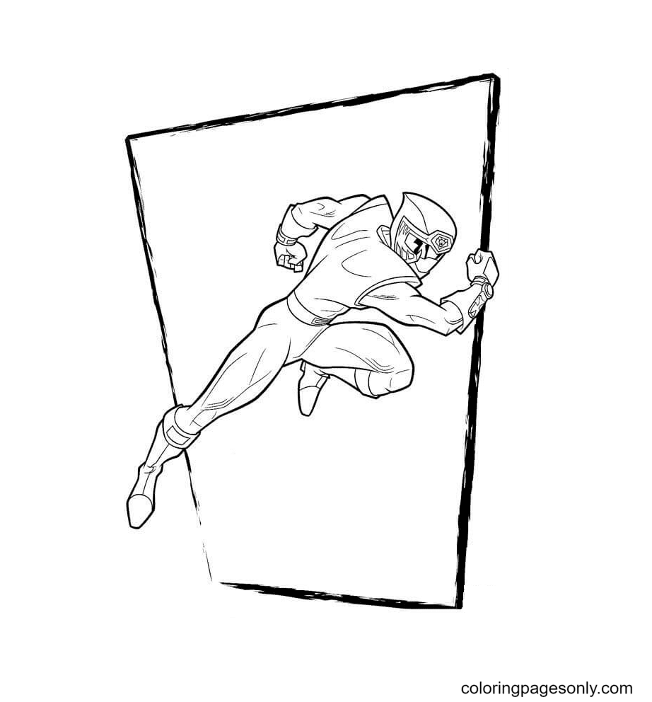 Ranger Red Coloring Page