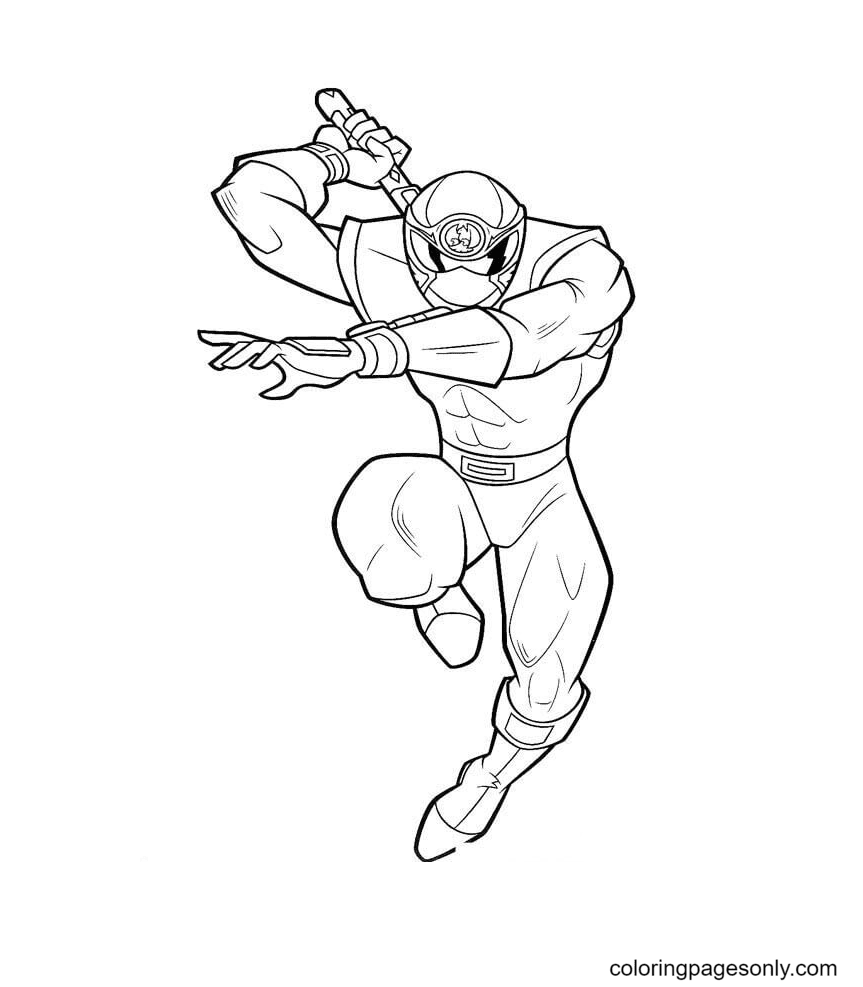 Ranger White Coloring Page