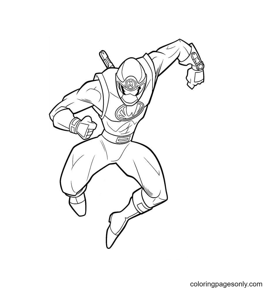 Ranger Yellow Coloring Page