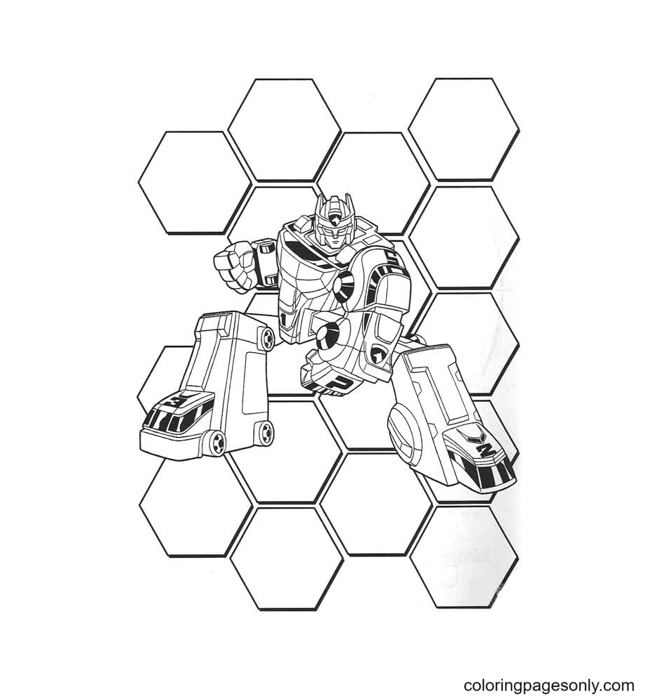 Rangers Transformer Coloring Page