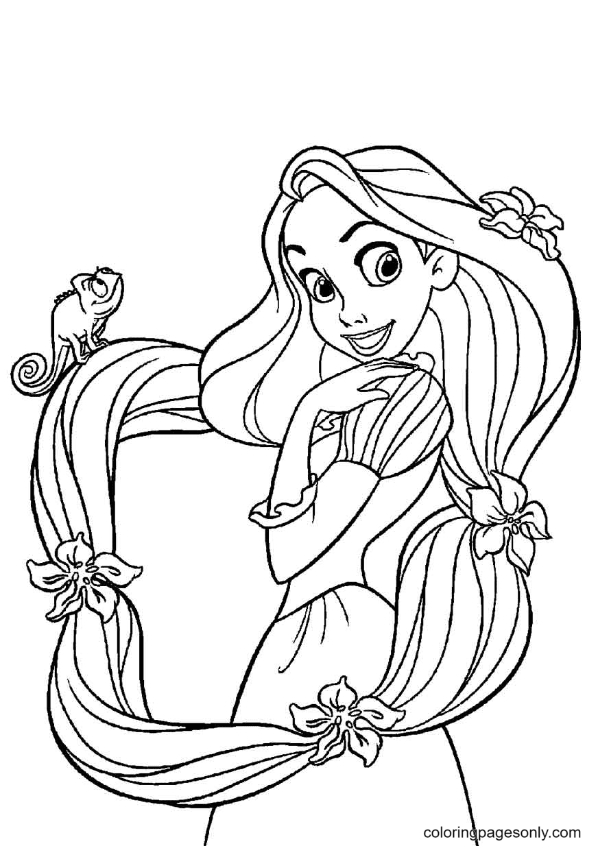 Rapunzel Tangled Coloring Page