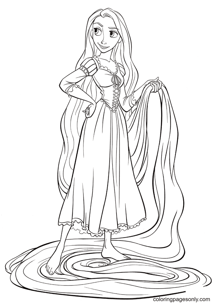 Rapunzel from Tangled Coloring Page