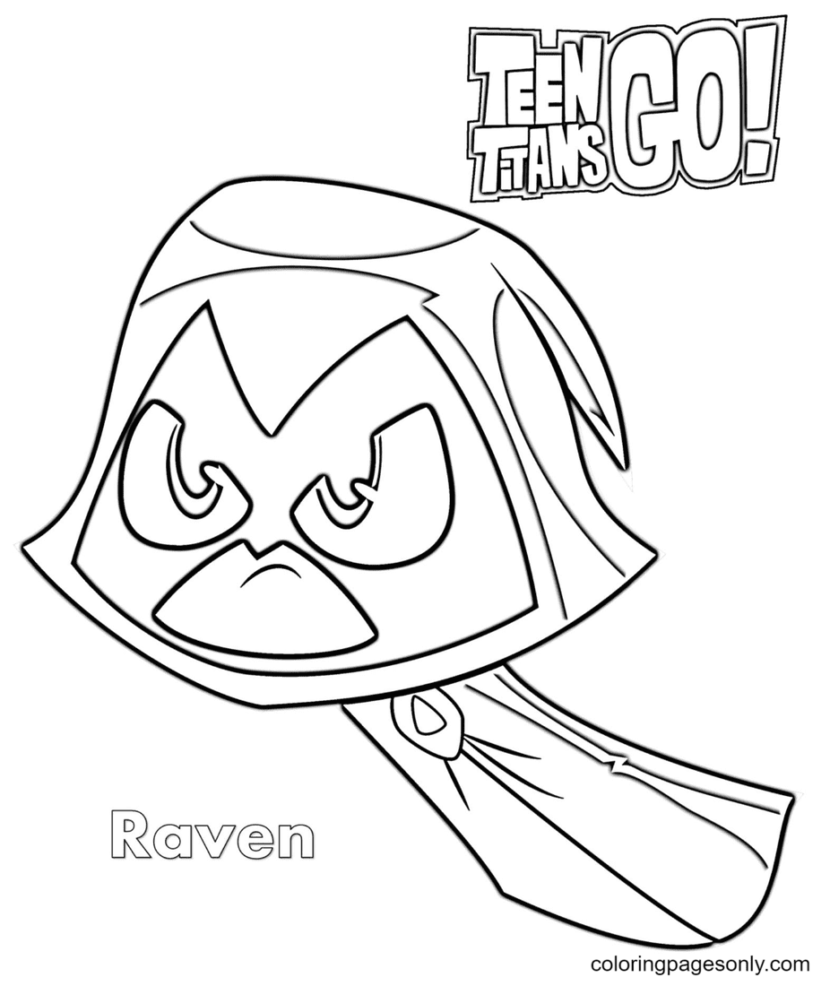 Raven Teen Titans Go Coloring Page