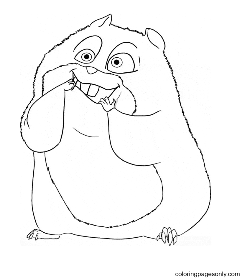 Rhino The Hamster Coloring Page